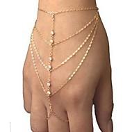 Pulseiras em Correntes e Ligações imitação de diamante Original Moda Jóias Dourado Jóias 1peça