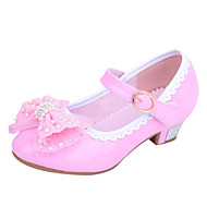 Girl's Heels Spring / Summer / Fall Heels Leatherette Wedding / Outdoor / Dress / Casual / Party & Evening Low Heel Blue / Pink / Red