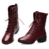 Dance Sneaker Women's Boots Low Heel Real Leather Breathable with Cotton Dance Shoes(More Colors)