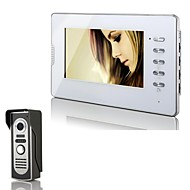 """XYY-V70D-M2 7"""" TFT Color Video Door Phone System with Alloy Rainproof Cover and Night Vision  Camera - White"""