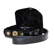 dengpin® couro lichia câmera caso grãos retro pu com alça de ombro para Canon PowerShot G7 X G7x