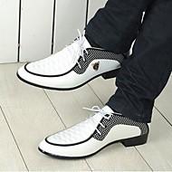 Miesten kengät Toimisto/Rento/Juhlat Nahka Oxford-kengät Musta/Valkoinen