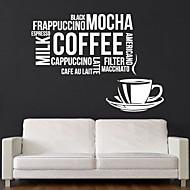 jiubai® citações do café decalque da parede adesivo de parede,