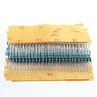 1 / 4W resistores de filme de metal resistência 1% 10r-1m (30 x 25pcs)