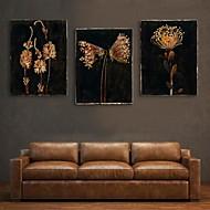 e-home® feszített vezetett vászon nyomtatási art virág vaku hatása vezetett sor 3