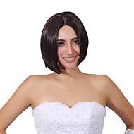 монолитным цветовой гаммы Короткие высокого качества природного прямые волосы синтетический парик ни с треском