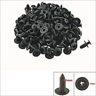 100 Stück Kunststoffschraube Platte drücken Verschluss Niet Stoßstange Clips