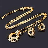 U7® Necklace Pendant Stud Earrings Platinum Plated Austrian Rhinestone Fashion Jewelry Set