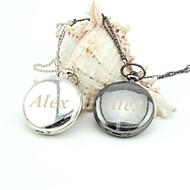 montres de poche lisse émail cordons métalliques rétro personnalisés