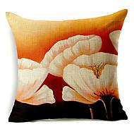 stora vita blommönster bomull / linne dekorativa örngott