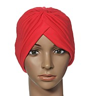 Women's Candy Color Stretchy Turban Beanie Wrap Hat