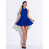 Homecoming Cocktail Party/Prom Dress - Royal Blue A-line/Princess Jewel Short/Mini Jersey