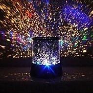 bryllupet innredning farge endring stjerners skjønnhet stjernehimmelen projektor nattlys (3xAA, tilfeldig farge)