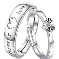 Ladies'/Men's/Couples' Silver Ring Crystal Silver
