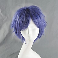 Cosplay Wigs Angel Beats Cosplay Purple Short Anime Cosplay Wigs 35 CM Heat Resistant Fiber Male