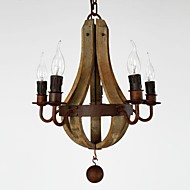 40W Chandelier ,  Vintage Painting Feature for Mini Style Wood/BambooLiving Room / Bedroom / Dining Room / Study Room/Office / Kids Room