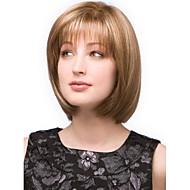 модно смешанный золотой короткие прямые полный взрыва парик волос