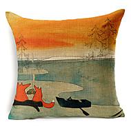 räv mönster lantlig stil bomull / linne dekorativa örngott