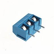 pcb 3-pin 5.08mm ruuviliittimet - 300v / 16a (10 kpl)