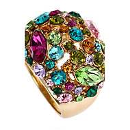Statement Rings Rose Gold Rhinestone 18K gold Alloy Fashion Statement Jewelry Screen Color Jewelry Party 1pc