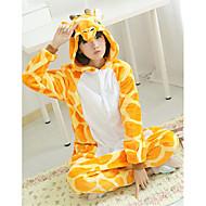 Costume e/o pigiama da giraffa, in pile, con babbucce
