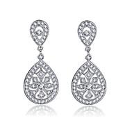 Drop Earrings Women's Brass Earring Cubic Zirconia