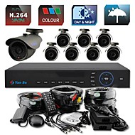 YanSe® 8CH D1 1000TVL CCTV DVR Kit IR Color Waterproof Security Cameras System 6mm (100ft Cable) F278CF08