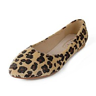 Women's Spring / Summer / Fall Pointed Toe Leatherette Casual Flat Heel Animal Print Brown / Gray