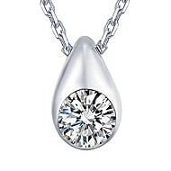 925 Silver Round Pendant With Cubic Zirconia