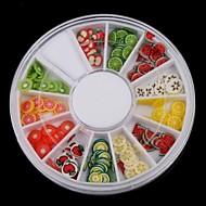 12-Color Fruit Design Polymer Nail Art Decoration