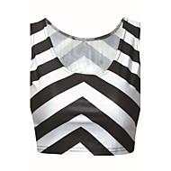 Women's Casual/Daily Simple Spring / Summer / Fall Tanks,Striped U Neck Sleeveless Medium