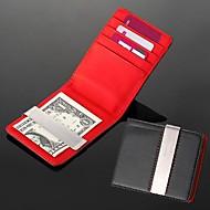 gift groomsman huwelijkscadeau gepersonaliseerde graveerbare leatheroid rood zwart zilver portemonnee geld clip