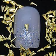 100шт треугольник золотой металл заклепки ногтей украшения