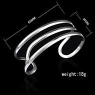 Fashion Sterling Silver Plated Wave Bangle Women's Bracelet