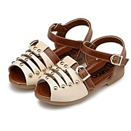 Girl's Sandals Summer Open Toe / Comfort / Slingback / Round Toe Leather Outdoor / Casual / Athletic Flat HeelBuckle / Magic Tape / Hook