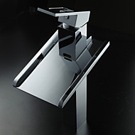 Sprinkle® Sink Faucets  ,  Countertop  with  Chrome Single Handle One Hole  ,  Feature  for LED / Waterfall