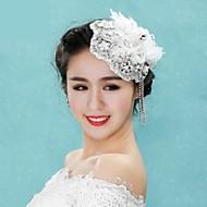 elegantti Korean tyyliin tupsu kanssa tekojalokivi häät headpieces