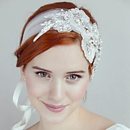 Bergkristal/Tule Vrouwen Helm Bruiloft/Speciale gelegenheden Hoofdbanden Bruiloft/Speciale gelegenheden