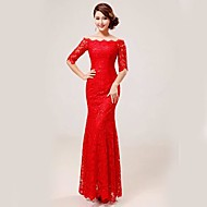 Formal Evening Dress - Ruby Plus Sizes Trumpet/Mermaid Scalloped Floor-length Lace