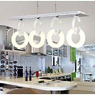 luzes pingente moderno criativo levou encastrar leve de alumínio acrílico de metal 4 luz