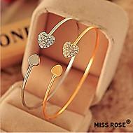 Miss rose®fashion Zirkon Herz Liebe Muster openning Armband