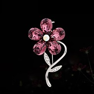 Women's Fashion Crystal Flower Brooch