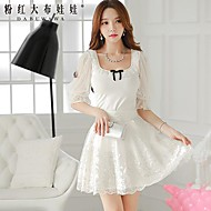 Women's White Skirts , Casual/Lace/Party Above Knee