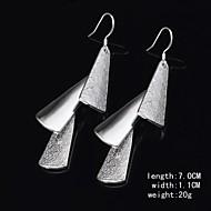 Women's Silver Drop Earrings With Non Stone
