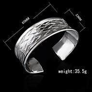 Manschett Armband Dam Icke sten Silver