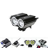 פנסי אופניים / פנס קדמי לאופניים / אורות זוהר אופניים / נורות LED LED Cree XM-L T6 רכיבת אופניים עמיד למים 18650 5000 Lumens סוללהרכיבה
