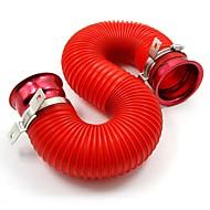 tirol universella tube luftfilter justerbar kall luft insprutningsinsugningssystem pipe röd kit 76mm