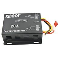xincol® køretøj bil dc 24v til 12v 20a strømforsyning transformer konverter-sort