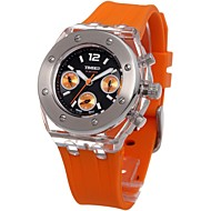 TIME100 Women 3 Dials Silicone Black Strap  Multifunction Fashion Sport Couple Watch For Ladies(Assorted Colors)
