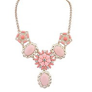 European Style Street Shooting Fashion Sweet Imitation Gemstone Necklace(More Colors)
